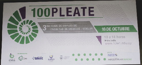 100pleate, feria de empleo de Facultad de Ciencias
